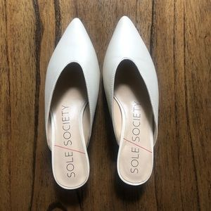 Sole Society Leather Mule NWOT